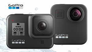 The new GoPro HERO8 and GoPro MAX 360 camcorders