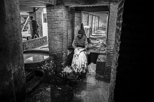 Leather factory in Morocco