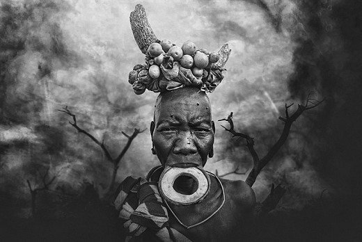 Urban Mursi tribe woman
