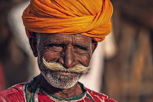 Old Rajasthani man